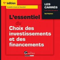 [EBOOK] L'essentiel du choix des investissements et des financements