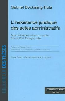 L'inexistence juridique des actes administratifs