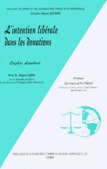 L'intention libérale dans les donations