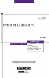 L'objet de la libéralité