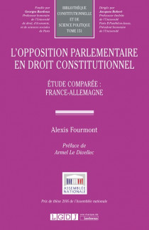 L'opposition parlementaire en droit constitutionnel