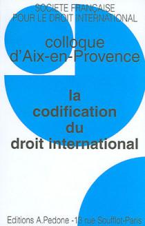 La codification du droit international