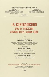 La contradiction dans la procédure administrative contentieuse