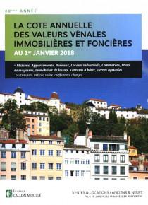 La cote annuelle des valeurs vénales immobilières et foncières au 1er janvier 2018