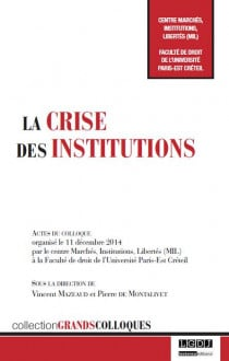 La crise des institutions