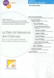 La date de naissance des créances (coffret 1 CD-Rom)