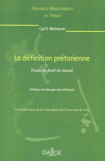 La définition prétorienne