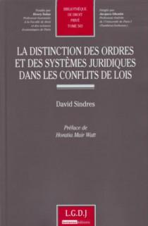 La distinction des ordres et des systèmes juridiques dans les conflits de lois