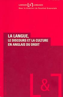 La langue, le discours et la culture en anglais du droit N°27