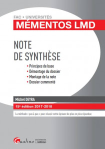 La note de synthèse [EBOOK]