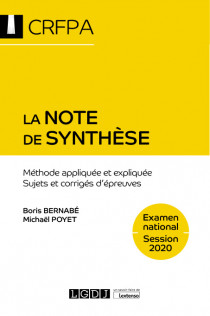 La note de synthèse - CRFPA - Examen national Session 2020