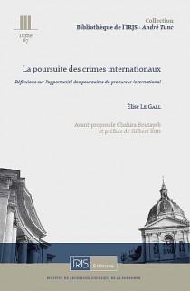 La poursuite des crimes internationaux