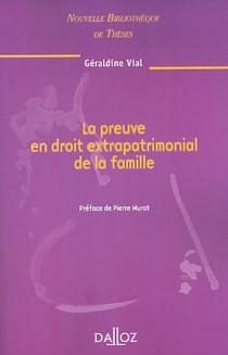 La preuve en droit extrapatrimonial de la famille