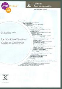 La procédure pénale en quête de cohérence (coffret 1 DVD-Rom)