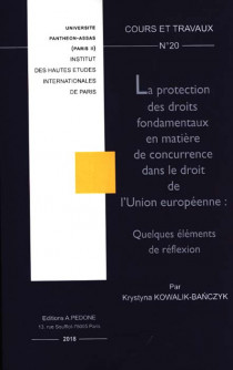La protection des droits fondamentaux en matière de concurrence dans le droit de l'Union européenne : quelques éléments de réflexion