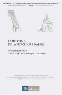 La réforme de la procédure d'appel