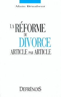 La réforme du divorce. Article par article