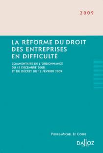 La réforme du droit des entreprises en difficulté 2009