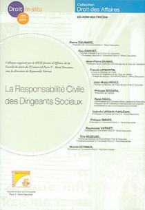 La responsabilité civile des dirigeants sociaux (coffret 1 CD-Rom)