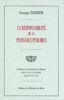 La responsabilité de la puissance publique