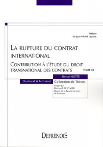 La rupture du contrat international