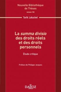 La summa divisio des droits réels et des droits personnels