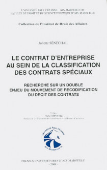 Le contrat d'entreprise au sein de la classification des contrats spéciaux