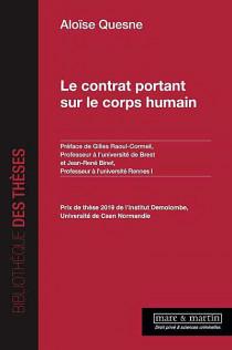 Le contrat portant sur le corps humain