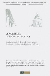 Le contrôle des marchés publics