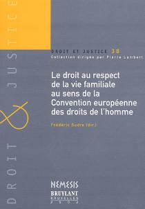 Le droit au respect de la vie familiale au sens de la convention européenne des droits de l'homme