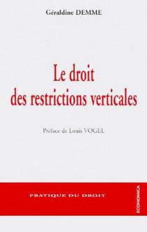 Le droit des restrictions verticales