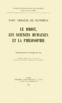 Le droit, les sciences humaines et la philosophie