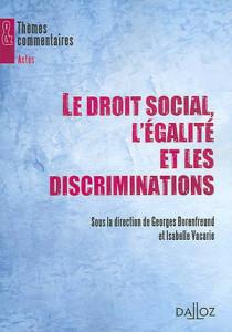 Le droit social, l'égalité et les discriminations