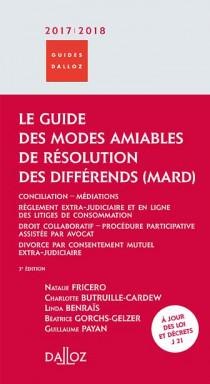 Le guide des Modes Amiables de Résolution des Différends (MARD) 2017-2018
