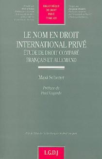Le nom en droit international privé