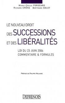 Le nouveau droit des successions et des libéralités