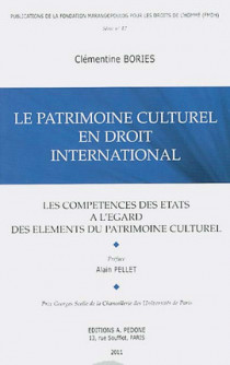 Le patrimoine culturel en droit international