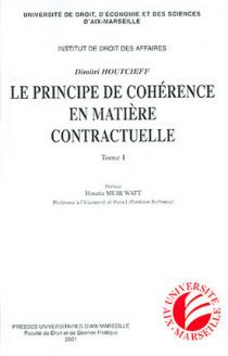 Le principe de cohérence en matière contractuelle, 2 volumes