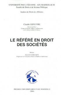 Le référé en droit des sociétés
