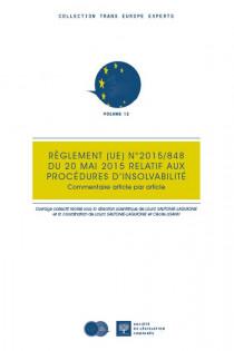 Règlement UE n° 2015/848 du 20 mai 2015 relatif aux procédures d'insolvabilité