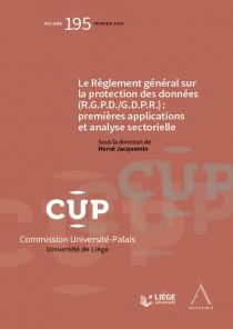 Le Règlement général sur la protection des données (R.G.P.D./G.D.P.R.) : premières applications et analyse sectorielle