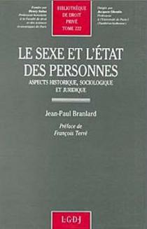 Le sexe et l'état des personnes