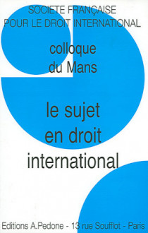 Le sujet en droit international