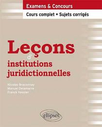 Leçons d'institutions juridictionnelles
