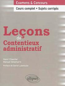 Leçons de contentieux administratif