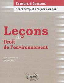Leçons de droit de l'environnement