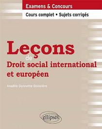 Leçons de droit social, international et européen