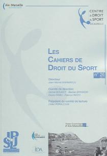 Les cahiers de droit du sport, 2011 N°26