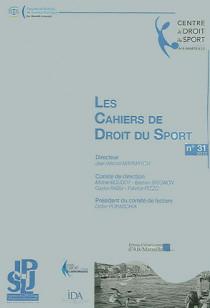 Les cahiers de droit du sport, 2013 N°31