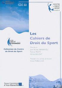 Les cahiers de droit du sport N°22